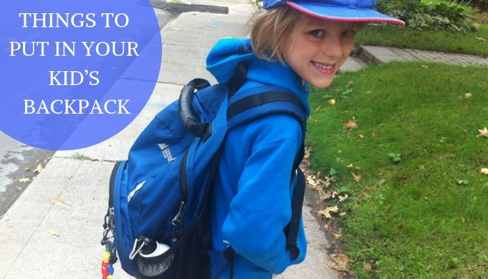 6 Things to Put in Your Kid's Backpack to Encourage Active Play