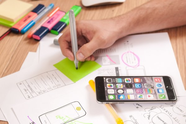 A person designing a mobile-friendly version of a website.